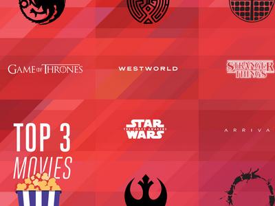 Movies & Shows icon overlay gradient inforaphic favorites movies tv television netflix