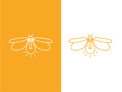 Firefly insect illustration icon line logo firefly