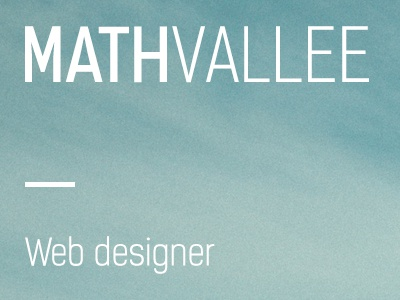 MathVallee landing web designer portfolio photos background