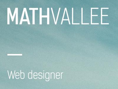MathVallee landing web designer portfolio photos background
