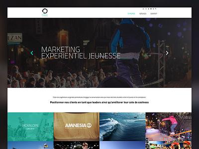 Tribu Experientiel - Home homepage ui web design grid slideshow simple clean
