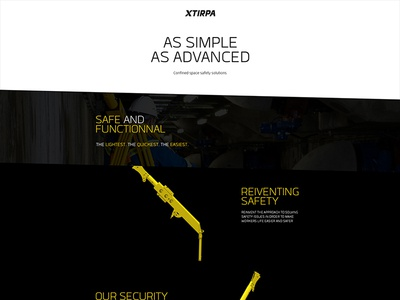 Xtirpa - Parallax parallax onepager ui design product scroll simple rotation