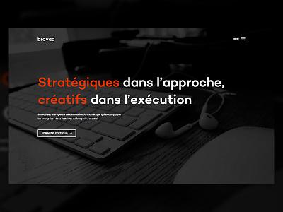 Bravad – Agency ui web design grid simple clean responsive mobile digital communication loading