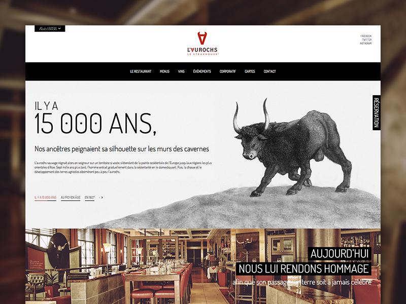 Restos Dix30 ui web design parallax portal restaurants responsive mobile montreal dix30 high-end