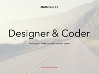 MathVallee – Designer & Coder