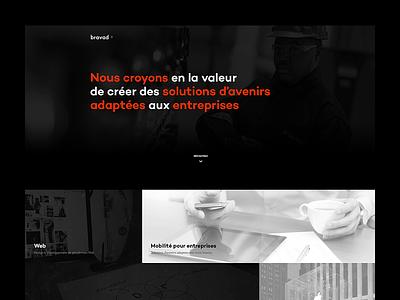 Bravad - New Homepage agency homepage simple layout box grid clean webdesign web design web ui