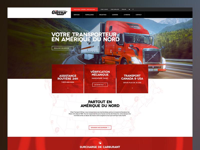 Transport Gilmyr header photography blocks ui minimal transport grid layout web design clean simple web
