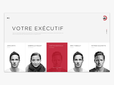Executif header fullpage webdesign ui minimal intranet grid layout web design clean simple web