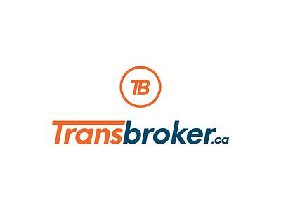 Transbroker.ca website transportation transport icon circle blue orange branding brand identity logo design logo