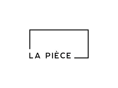 La Pièce - Logo website startup decoration icon rectangle bw blackandwhite branding brand identity logo design logo