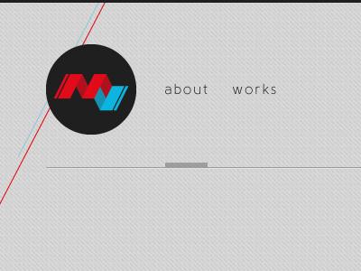 Navigation on my new website navigation header menus mathieu mv