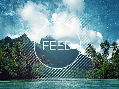 Feed cover album feed music designersmx lines paradise tropic circle