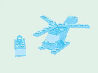 Blue Copter flat design blueprint flatdesign easymetry copter colors 3d madrabbit inflat illustration