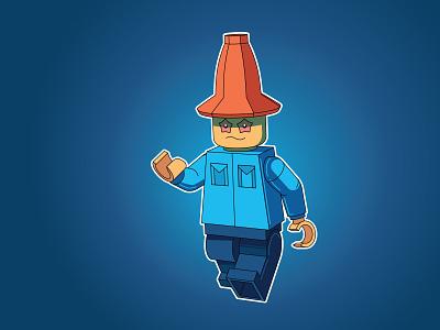 Lego Wizard 3d moi3d wizard blueprint easymetry madrabbit inflat illustration flat design