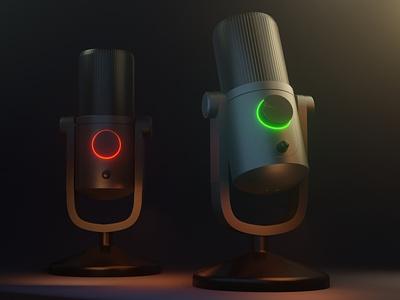First 3D project blender3d microphone design newyear first 3d 3d