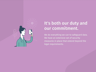 Privacy microsite animation