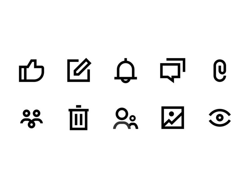 new icons ui design icons