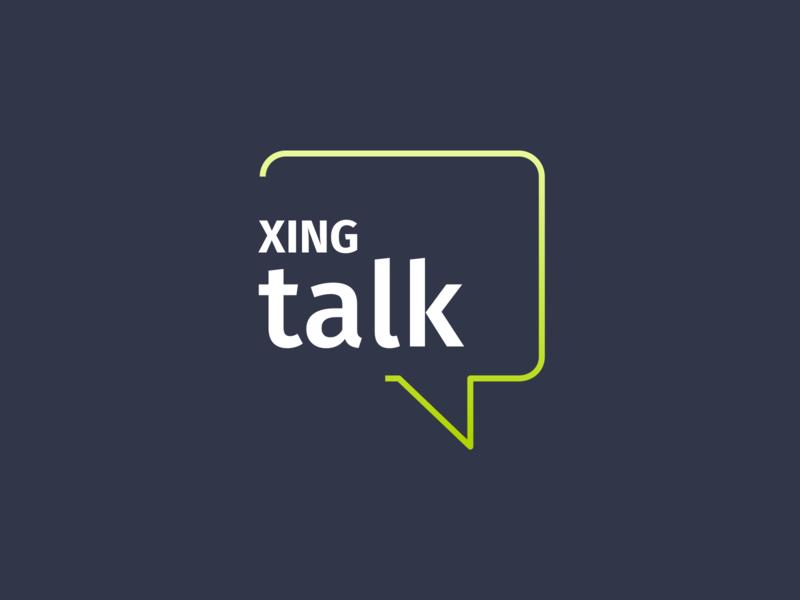 XING talk brand logo design logotype logo