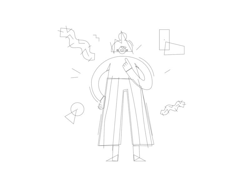 Illustrations process corporate design illustration