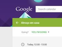 Google Calendar - Material Design Experiment