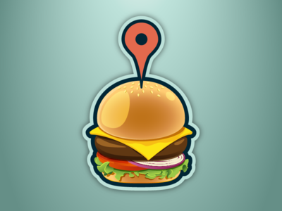 Burger Blog Icon vector logo food burger icon