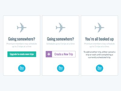 Create a Trip airplane card travel ux ui misstravel