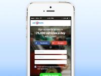 Landing Page mockup (mobile)
