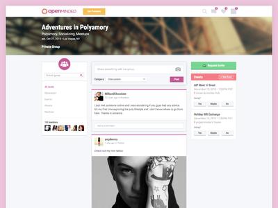Group dashboard social network dashboard ux ui
