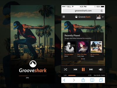 Quick Concept for Grooveshark service streaming music concept
