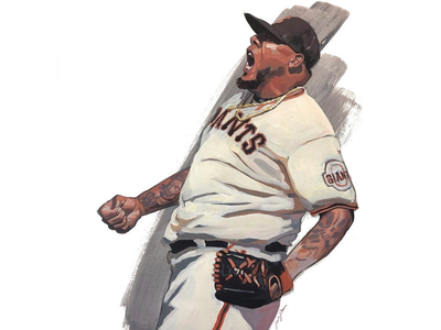 Reyes Moronta portrait for SF Giants