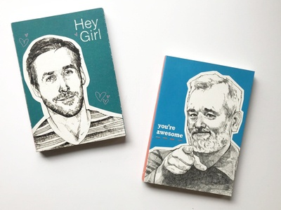 """""""Hey Girl"""" and """"You're Awesome"""" Journals for Chronicle Books"""