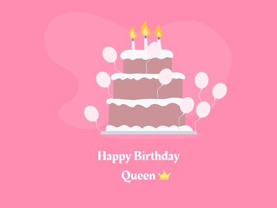Birthday card happy birthday birthday cake birthday card ui design figma design ui