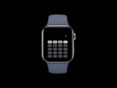 Calculater calculator apple watch dailyui ux design ui design figma