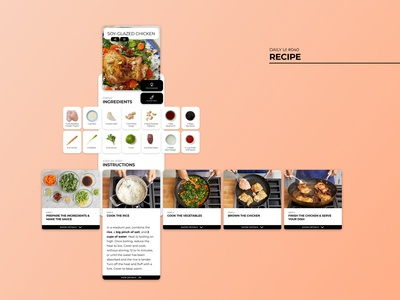 Daily UI #040 - Recipe