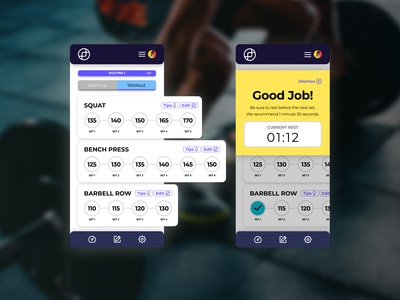Daily UI #041 - Workout Tracker