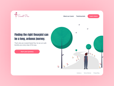 Daily UI - Day 003 illustration landing page design figma ui dailyui