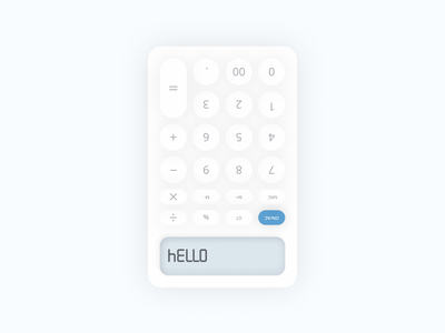 Daily UI - Day 004 calculator figma design dailyui ui