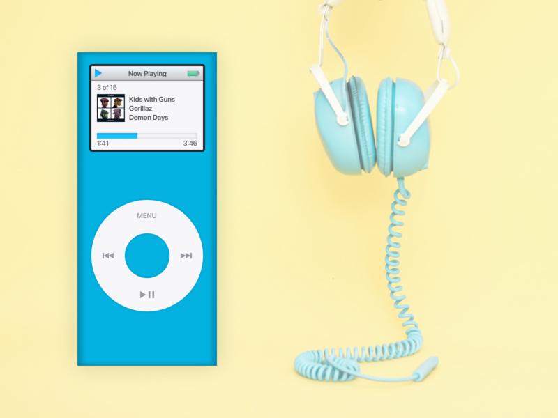 Daily UI - Day 009 music player apple design ipod mini ipod dailyui ui figma design
