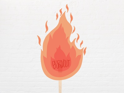 Burnout typography vector illustration figma design