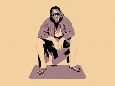The Dude illustration the dude big lebowski movie