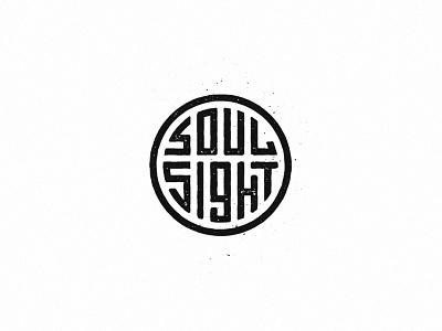 Soulsight Stamp Badge logo brandmark badge design stamp design grunge texture grunge grit badge soulsight stamp
