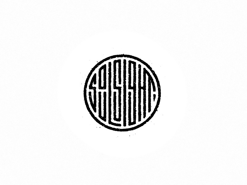 Soulsight Stamp icon seal illustration vector soulsight design texture geometry type badge logo brandmark typography