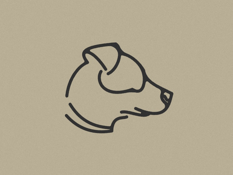 008 Hogan linework line geometry dog illustration logo