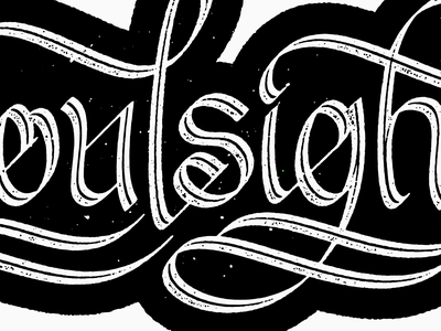 Script Detail calligraphy inline texture logo brandmark typography