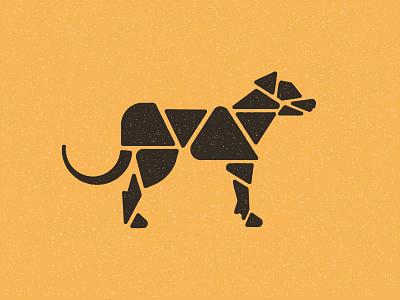 010 Hogan geometric geometry dog illustration dog logo