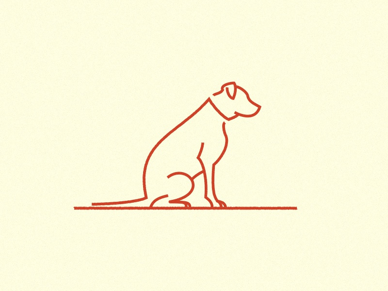 011 Hogan line simple good boy dog hogan illustration