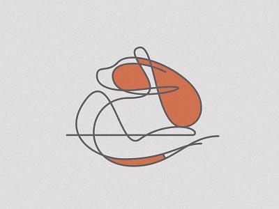 013 Hogan doodle dog illustration gesture linework dog