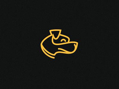 014 Hogan hogan dog linework logo icon cartoon