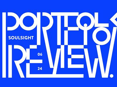 Soulsight Portfolio Review Night geometric portfolio lines design geometry brandmark typography