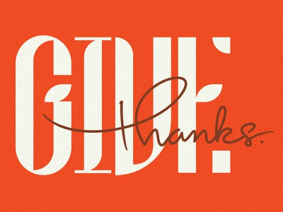 Give Thanks typogaphy fall thanksgiving